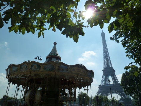 a carousel and Eiffel Tower. :)