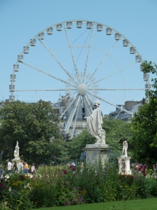Ferris wheel in the Jardin de tuileries.