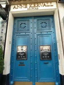 A beautiful blue door in the Marais.