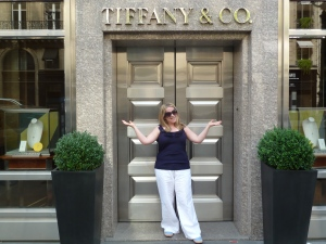I found Tiffanys in Paris. Alas it was shut!