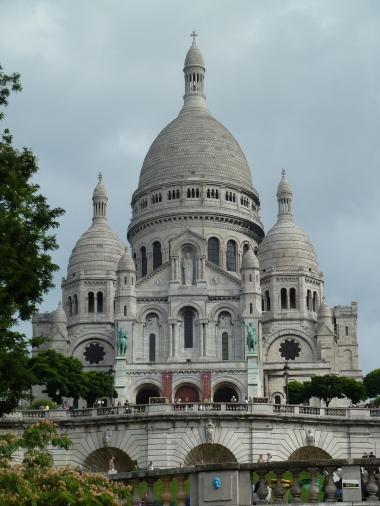 Basilica of the Sacre Coeur. well worth the climb.