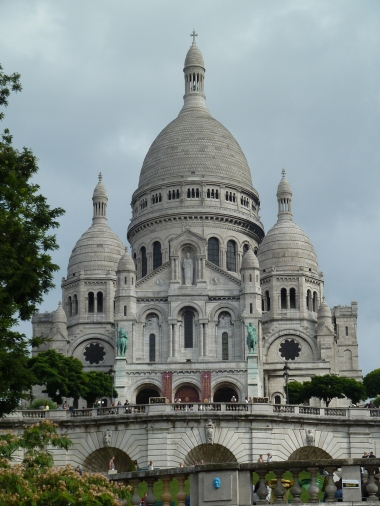 Basilica of the Sacre Coeur. well worth the climb.