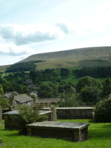 Pendle Hill from the church yard.
