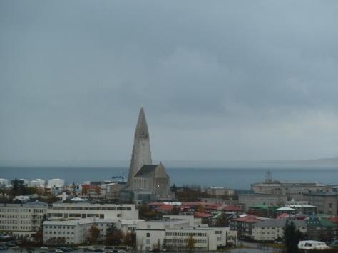 View of Hallgrimskirkja from the Perlan.