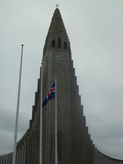 Hallgrimskirkja Church, a focal point of the city.