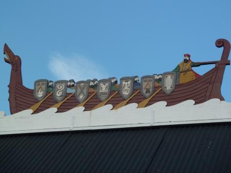 Longboat on a roof !