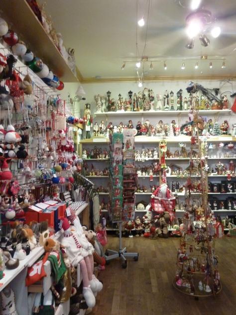 Inside one of Reykjaviks Christmas shops.
