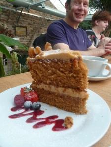 Coffee and walnut cake. Yummy!
