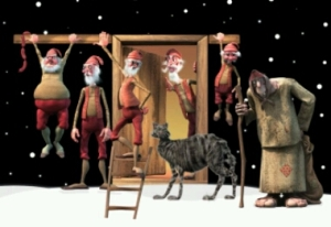 Yule Lads and Yule Cat.
