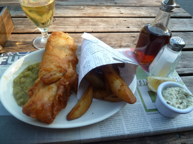 Fish and chips in Appletreewick.