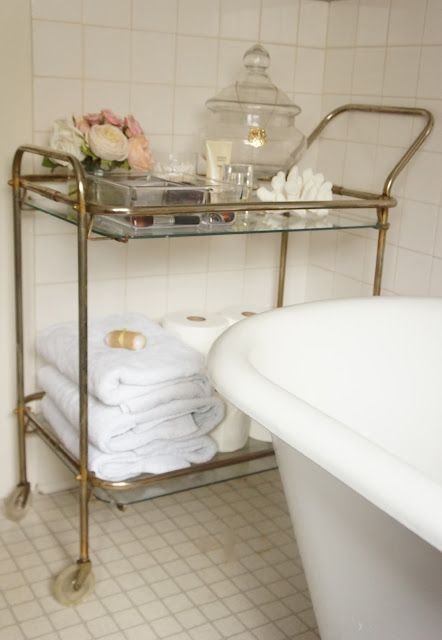 Pinspiration ~ Uses for a vintage tea trolley.