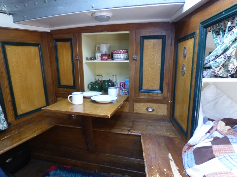 Cabin area in the Kennet.