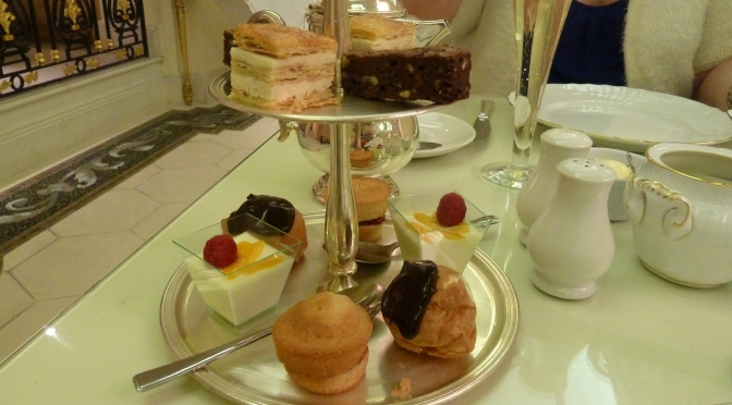 Afternoon tea at the Bentley Hotel, Kensington.