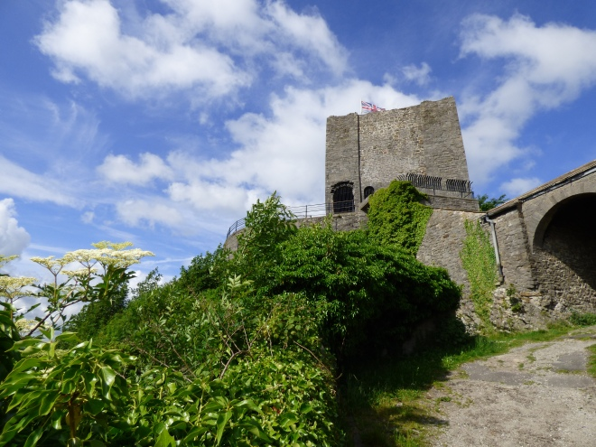 Clitheroe Castle in the clouds.