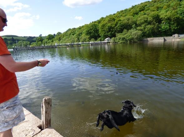Splashing around in Ullswater.