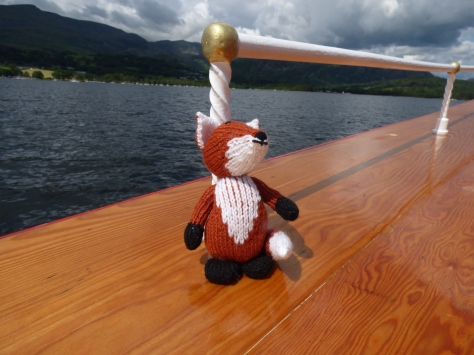 Heres Freddy the Fox who I bought in the Honest Shop. He enjoyed his first boat trip too. :)