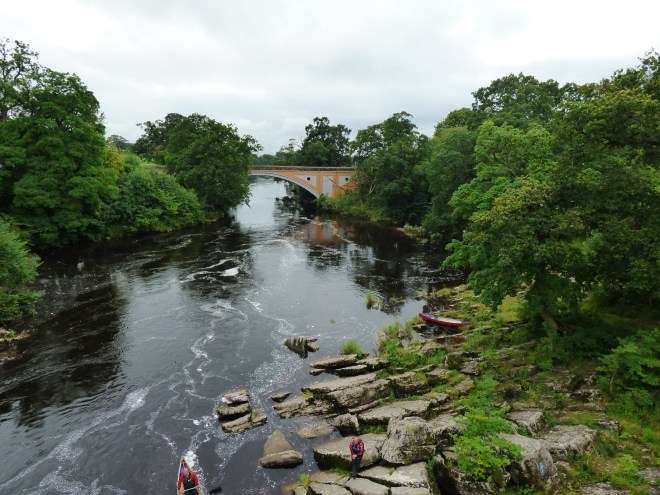 Canoeing on the river Lune.
