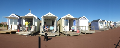 We hired a beach hut for the day at St Annes.