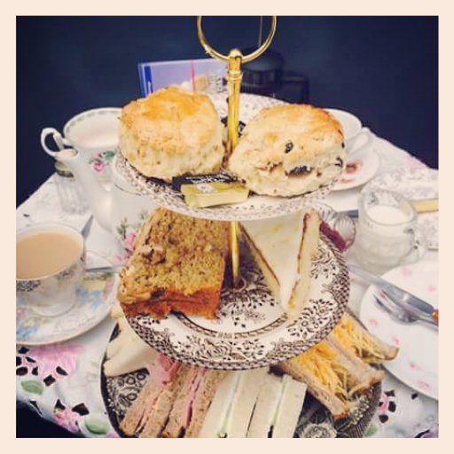 Gill's photo of our Afternoon tea. :)
