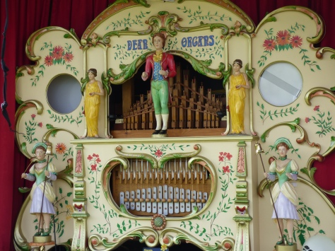 Vintage steam organ.