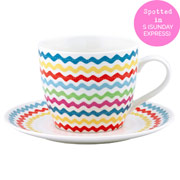 ric rac lg cup and saucer 16