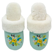 woodland rose sheepskin mules 42