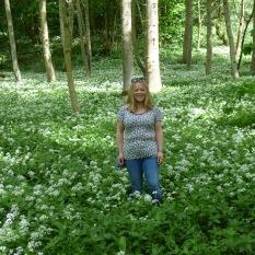 Wild Garlic in May. Bolton Abbey.