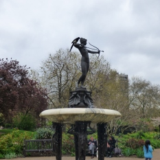 The Huntress Fountain.