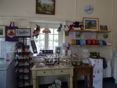 Inside Michelle's shop on Hare Green.