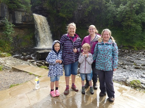 Ingleton ~  Camping and Waterfalls.