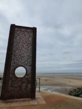 Memorial to ships wrecked off the Fylde Coast.