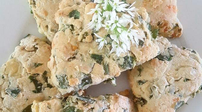 Wild Garlic & Cheese Scones.