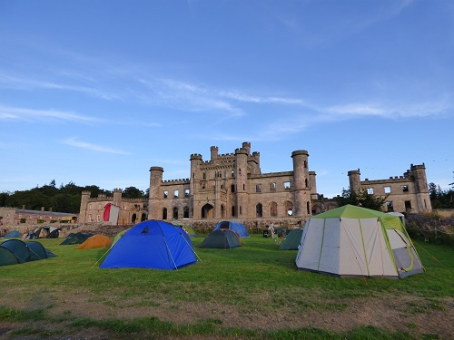 Sightseers at Lowther Castle~ with Picnic Cinema.