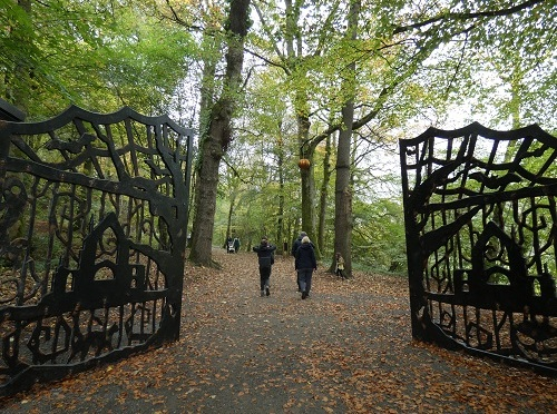 Spooky walk at Bolton Abbey.